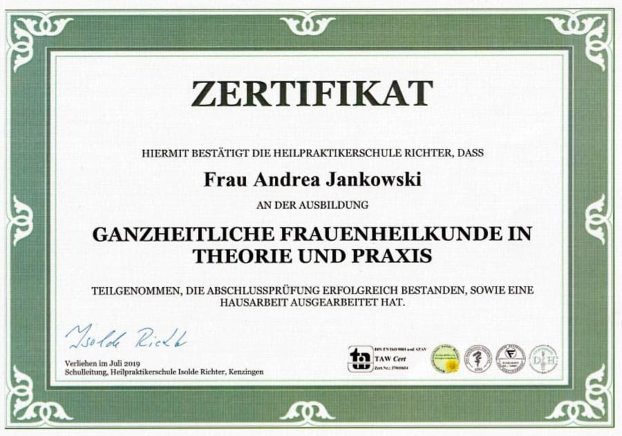 Heilpraktikerin für Frauenheilkunde in Duisburg Süd - Andrea Jankowski